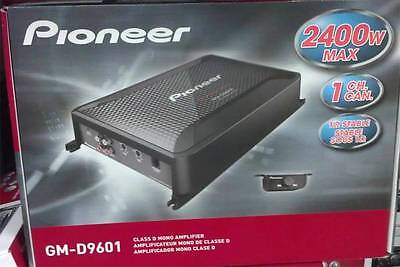 Pioneer GM-D9601 Class D Mono Amplifier Wired Bass Boost Remote