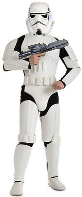 Star Wars Deluxe Stormtrooper Adult Mens Costume Fancy Dress Up, (One-Size), Sta