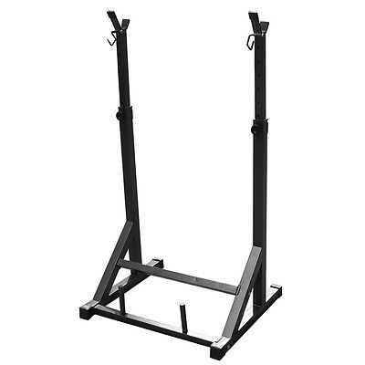 Adjustable Gym Squat Rack & Dip Stand Barbell/Weight Gym Bench - Rating 180kg AY