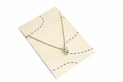 Bumble Bee Necklace 18k Gold Plated Chain Pendant Cute Small Gift Tiny Jewellery