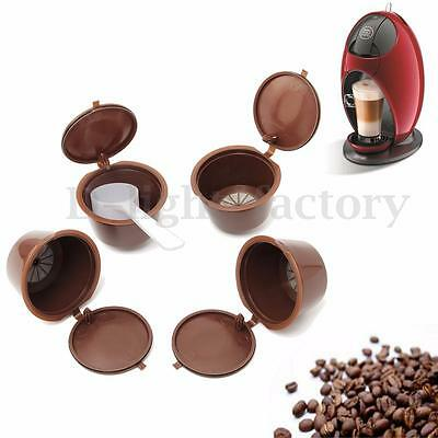 4 x Refillable Reusable Compatible Coffee Capsules Pods for DOLCE GUSTO Machines
