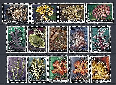 Papua New Guinea 1982 Corals set of 14 MNH