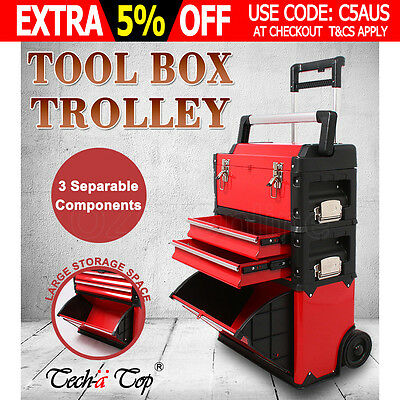 Tool Box Drawers Chest Cabinet Trolley Roller Toolbox Storage Craftsman Mechanic