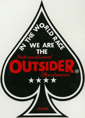 Sticker: International Outsider Sportswear. Jeans.