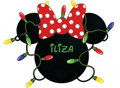 Disney******christmas******minnie  Mouse  Personalized T-Shirt Iron On Transfer