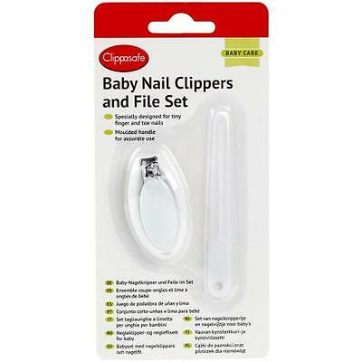 Clippasafe Baby Nail Clippers File Set Grooming Newborn Toddler