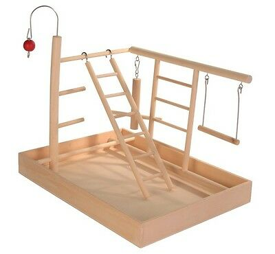 Wooden Small Parrot Amazons Cockatiel Playground Play Stand Cage Trixie 5655