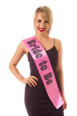 Sash Bride to Be Miss Behave Hen Night Party Wearables