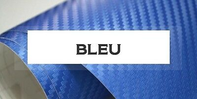 FILM VINYLE CARBONE 3D THERMOFORMABLE COVERING 150 x 20 cm BLEU