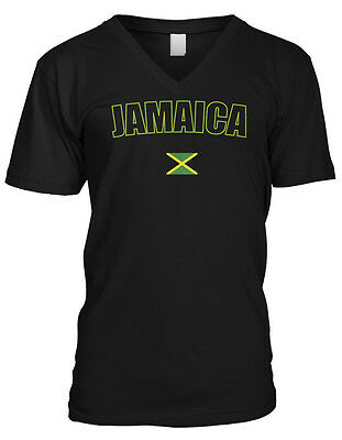 17ce48b22 Bold Jamaica Country Flag - Jamaican Pride Nationality Mens V-neck T-shirt
