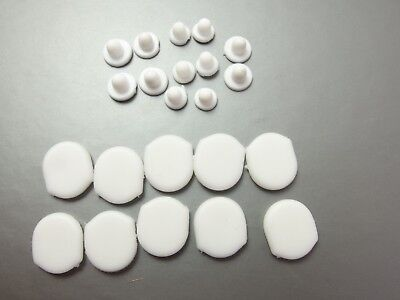 Comfort Pads for Clip on Earrings 5 pairs White soft plastic & 6 Small push in