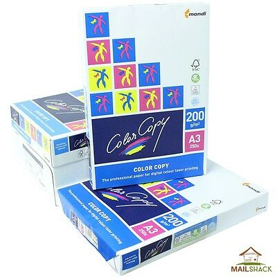 Color Copy A3 White Card PREMIUM 200gsm Printing 1 2 3 4 Reams Of 250 Sheets