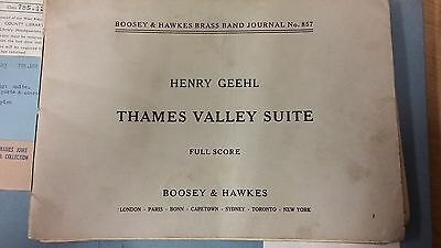 Geehl: Thames Valley Suite: Brass Band Music Score