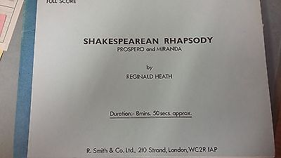 Heath: Shakespearian Rhapsody: Prospero + Miranda: Brass Band: Music Score