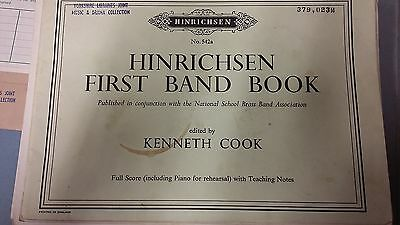 Hinrichsen: First Band Book: Brass Band Music Score