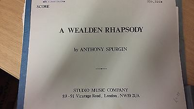 Spurgin: A Wealden Rhapsody: Brass Band Music Score