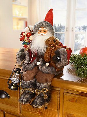 Christmas Santa Claus Father Sitting Figure Xmas Party Decoration Gift