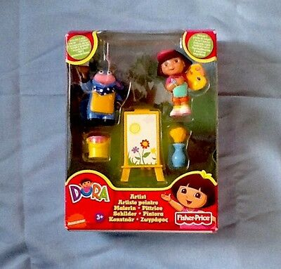 Fisher Price Dora the Explorer Artist Play Pieces 2009 New in Box