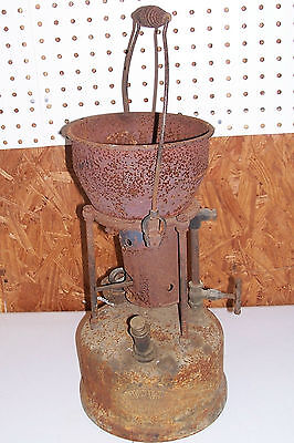 Old Plumbers Smelting Stove Clayton & Lambert Mfg Co No 21 Vintage Gas Kerosene