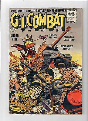 """GI COMBAT #24 Gold Age DC/Quality! Grade 4.5 First CCA """"approved"""" issue!"""