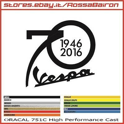 1 ADESIV0 VESPA 70 ANNI YEARS 1946-2016  mm.80x80 - AUFKLEBER PEGATINAS DECALS