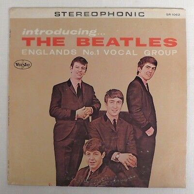 """Beatles """"introducing The Beatles"""" Lp Stereo Vee Jay Records # Lp-1062 Excel Cond"""