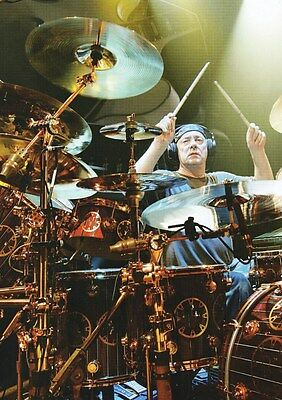 Rush - Neil Peart Master Of The Kit - A4 Photo Print
