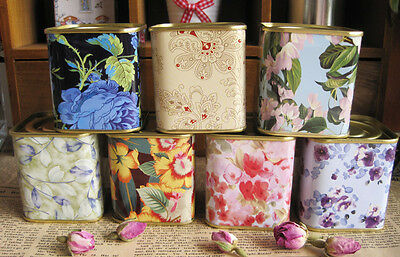 1 set 7 pcs Mini Tea Storage boxes Tin Candy Canisters TEA containers Caddy