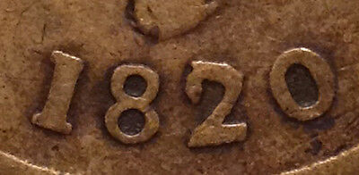 "1820 Bust And Harp Canada Half Penny Token 10 Strings Super Huge ""2"" Have A Look"