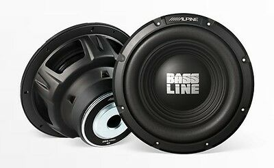 "(2) Alpine SWA-10S4 Bass Line Series 10"" 4-ohm Car Subwoofer New Pair (SWA10S4)"