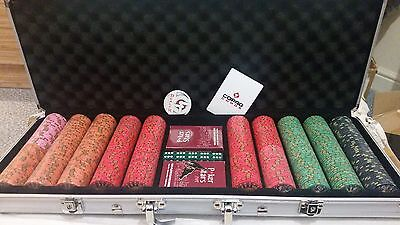 Genuine Nevada Jacks 500 Ceramic Poker Chip Set - With Case and Accessories