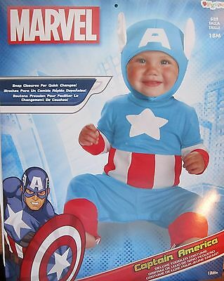 Captain America Deluxe Toddler Infant Costume 18 Months Marvel Comics NWT 51798