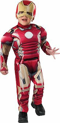 The Avengers Age of Ultron Iron Man Muscle Child Costume SIZE 2T - 4T 510076