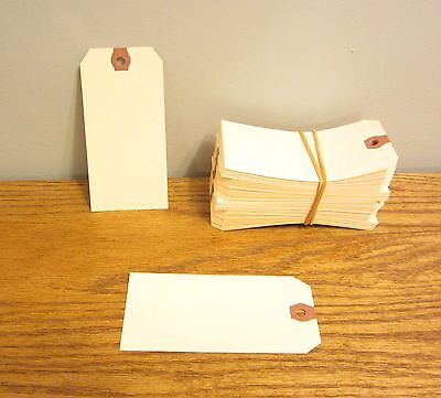 "50 Avery Dennison Manilla #5 Blank Shipping Tags 4 3/4"" By 2 3/8"" Scrapbook"
