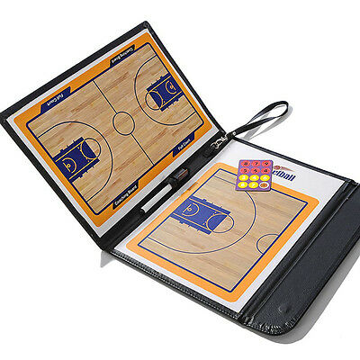 3 Folds Foldable Basketball Tactics Coaching Board Coaches Clipboard