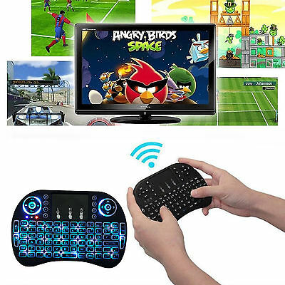 2.4G Wireless Backlit Air Keyboard Mouse Remote Touchpad For Android TV BOX PC
