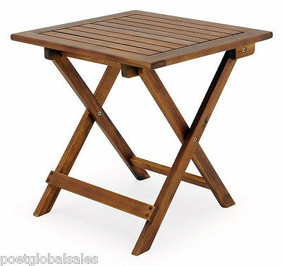 Garden Table Furniture Wooden Bistro Side Coffee Patio Foldable Balcony Outdoor