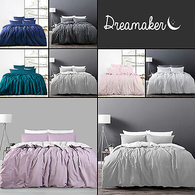 Luxury Cotton Linen Bedding Duvet Cover Set Twin Full/Queen King Size Customized