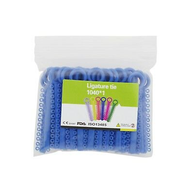 1040 Pcs Dental Orthodontic Elastic Elastomeric Ligature Tie Blue Rubber Bands