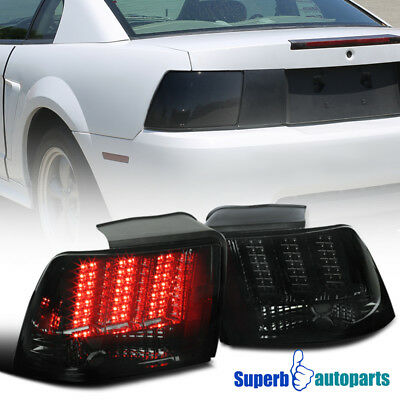 1999-2004 Ford Mustang LED Sequential Tail Lights Signal Brake Lamps Smoke