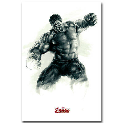 Hulk - The Avengers Marvel Superheroes Movie Silk Poster 12x18 24x36 inch