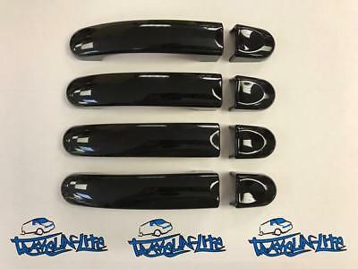 For VW T5 Transporter Gloss Black Door Handles Set Of 4 Flush Look Brand New
