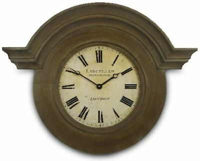 Antique Brown Large Ornamental French Style Chateau Wall Clock