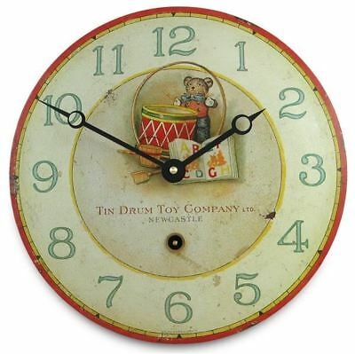 27cm Vintage Style Childrens Toy Themed Enamel Wall Clock