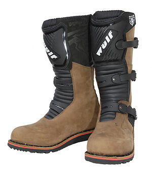 Wulfsport Adults Mens Motorcycle Trials Offroad Boots Brown