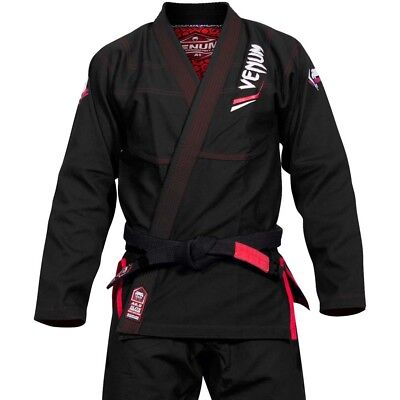 VENUM BJJ GI, Elite Light, schwarz, Brazilian Jiu Jitsu Anzug, Grappling, MMA