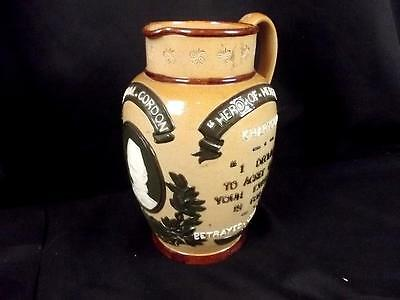 Circa 1890 Doulton Lambeth General Gordon Commemorative Stoneware Jug