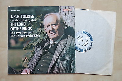J.R.R. TOLKIEN Reads And Sings The Lord Of The Rings USA vinyl LP Caedon TC 1478