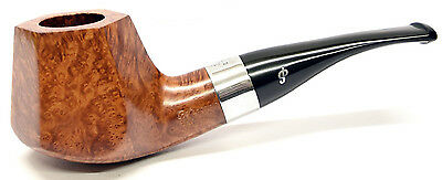 Peterson Special Silver Mounted Supreme Natural Briar Pipe, Free Pipe Tool (B54)