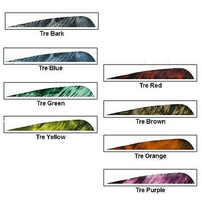 "Gateway Archery Feathers Parabolic 4"" LW Tre Camo - 25pk Color Choices"